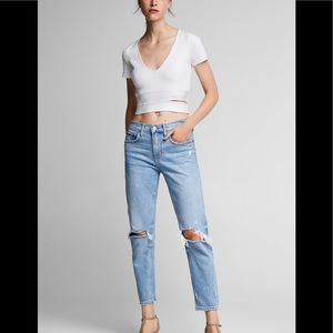 88bdaac8 Zara Jeans | Cropped High Rise Embroidered | Poshmark